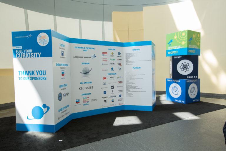 Sponsor Board at the Festival Expo