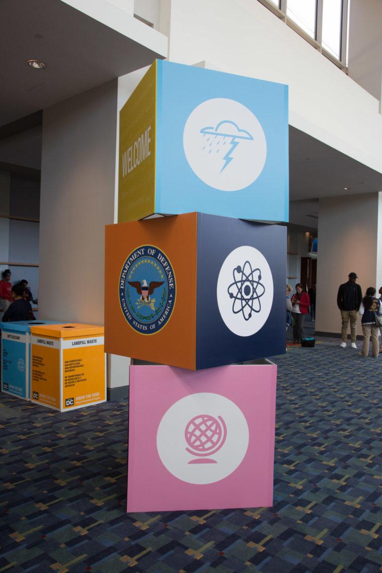 X-STEM Logo on Blocks